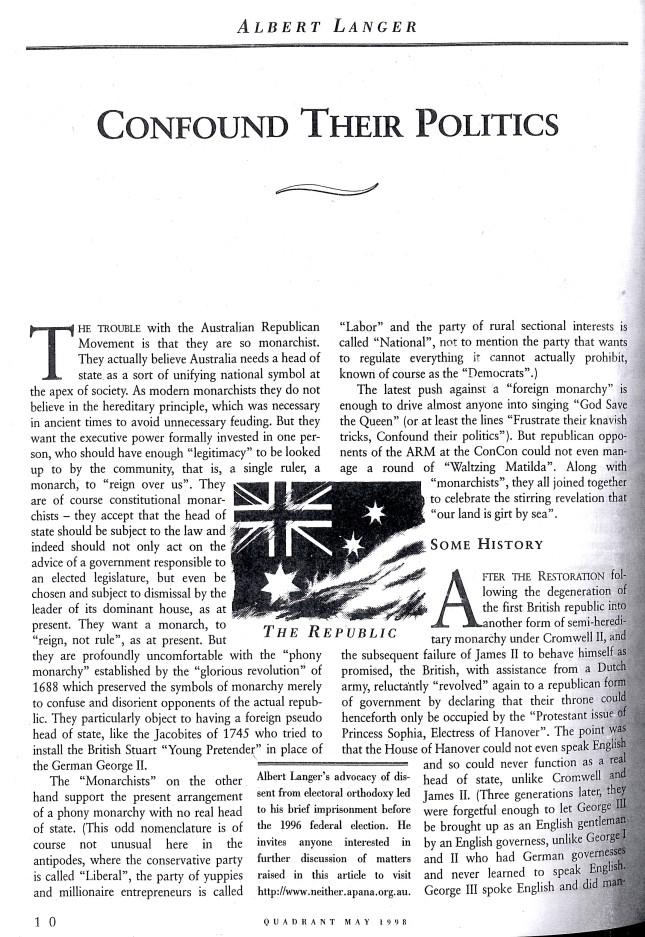 Albert Langer Confound their politics Quadrant May 1998_1