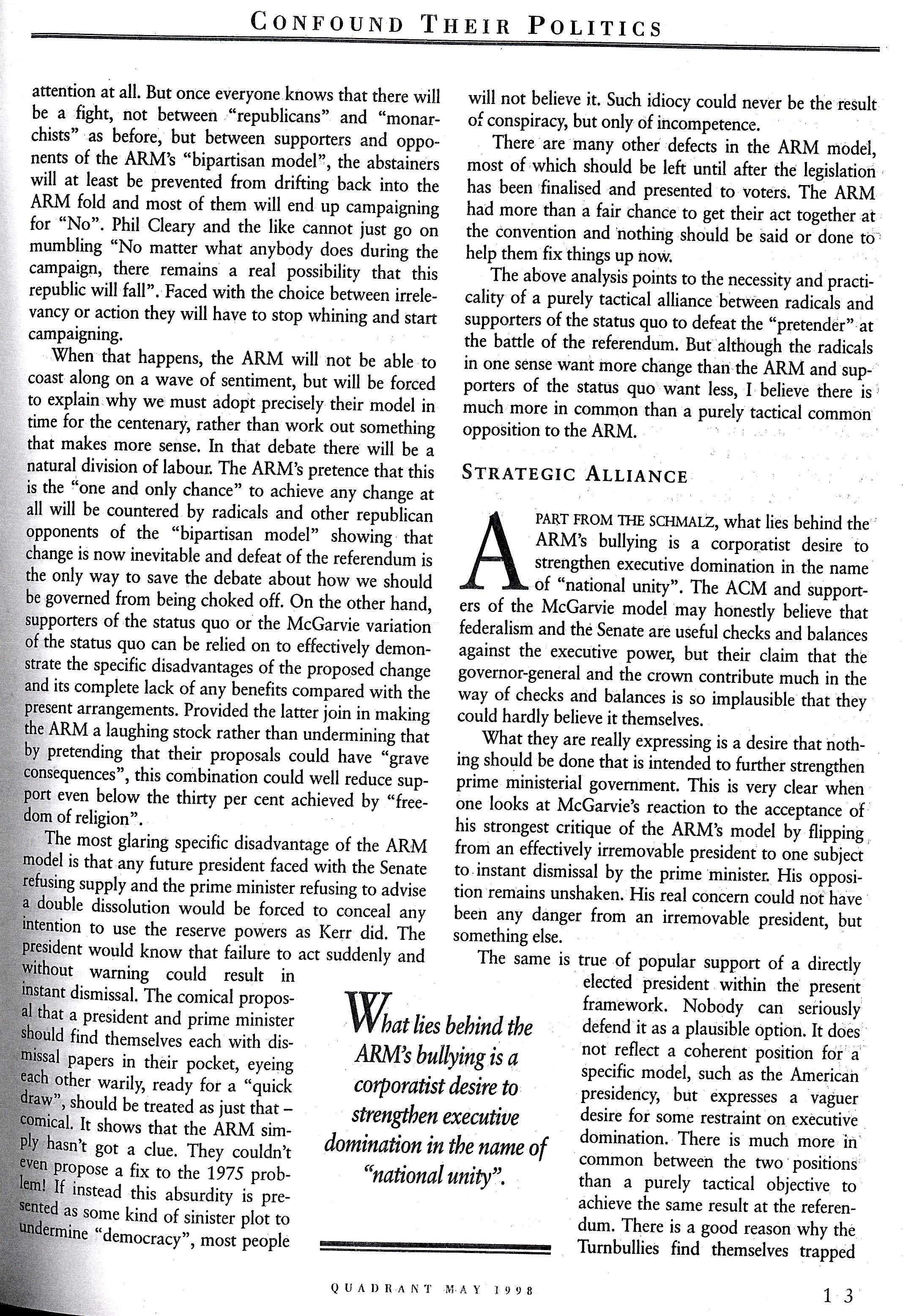 Albert Langer Confound their politics Quadrant May 1998_4