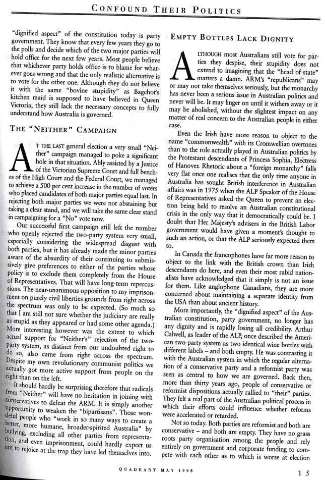 Albert Langer Confound their politics Quadrant May 1998_6