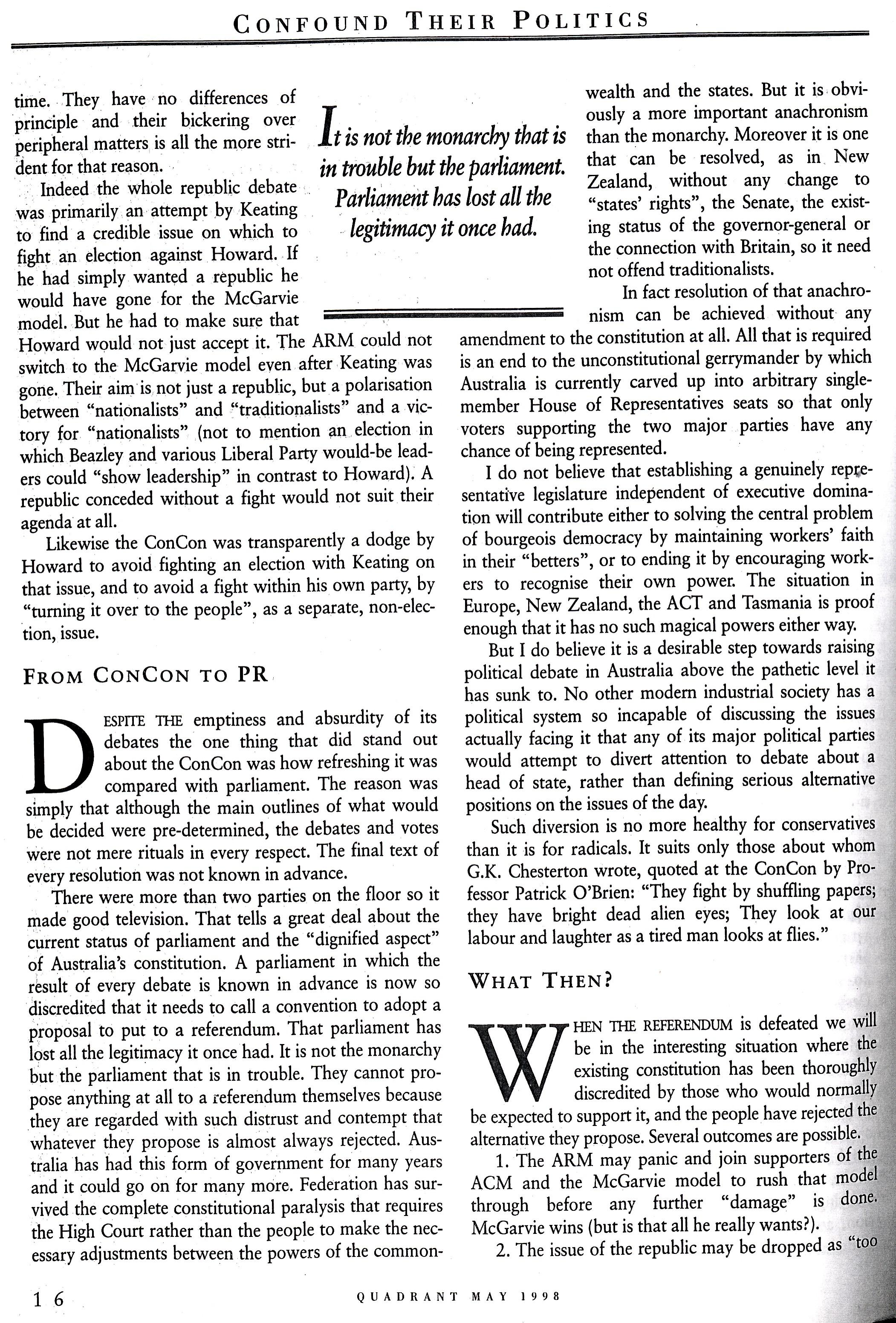Albert Langer Confound their politics Quadrant May 1998_7